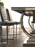 Het moderne Chinese Meubilair van de Eetkamer van het Huis Glas/metaal-