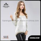 かぎ針編みパターン背部輝きのこんにちはLoヘムのセーター