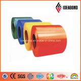 Matériau en aluminium de décoration de bobine enduit par couleur