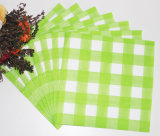 Pink Checkered Colorful Hot Selling serviette en papier pour les restaurants