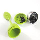 Чай 100% силикона цветастых листьев качества еды оптовой продажи форменный Infuser