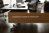 Scrivania moderna del PVC del nuovo cuoio di legno (V5)