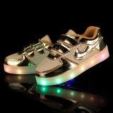 Hete Gouden Lichte LEIDENE van de Stickers van de Fluorescentie Magische Verglaasde Schoenen in Jinjiang