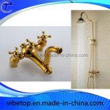 Rubinetto dell'acquazzone della stanza da bagno e testa di acquazzone accessori