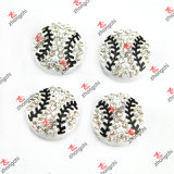Alloy all'ingrosso Metal Sports Ball Beads Slide Charms per Fans Bracelet Gift (SC111)