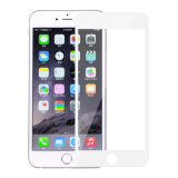 Protetor branco da tela da tampa cheia para o iPhone 6