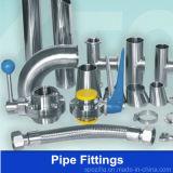Garnitures de pipe sanitaire d'acier inoxydable (vanne papillon maintenue)