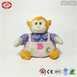 Jouet animal se reposant mou câlin d'ABC de singe de bébé fait sur commande de fantaisie