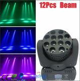 Lumière mobile d'étape de la tête 12PCS*10W RGBW de faisceau de LED