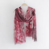As mulheres formam o lenço viscoso impresso floral (YKY1126)