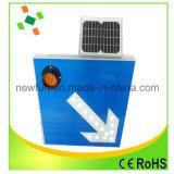 Le poteau de signalisation solaire de l'aluminium DEL reçoivent personnalisé