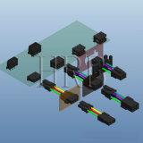 スナップ式のプラスチック止め釘が付いている二重列PCBロックヘッダ