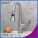 Fyeer Nickle Brushed Pull Out Kitchen Faucet Mixer (QH14107KS)