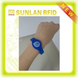 Customised programmabile MIFARE Waterproof Sequential Number Smart Wristband Bracelet per Gym