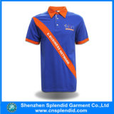 Blue all'ingrosso Cotton 100% Printing Fashion Polo T-Shirt per Men