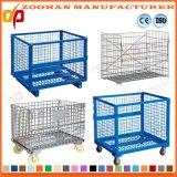 Industrieller stapelbarer galvanisierter Stahlvorratsbehälter-Maschendraht-Rahmen (Zhra29)