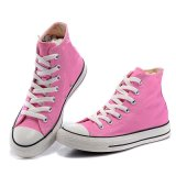 WomenまたはLadyのためのCutのハイ・ローレースPink Cheap Casual Canvas Shoe