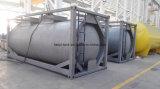 grande contenitore del serbatoio dell'acciaio inossidabile di formato di 25000L 20FT con le valvole per alimento, olio da tavola, acqua