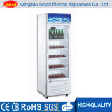 독립 구조로 서있는 유리제 문 전시 냉장고 진열장