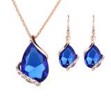 Monili stabiliti dell'orecchino Pendant di cristallo elegante della collana di Jewellry di modo