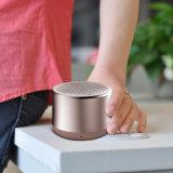 Haut-parleur Bluetooth mini sans fil portatif avec couvercle métallique