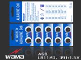 Wama AG9 Lr45 1.5V alkalische Tasten-Zellen-Batterie