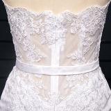 Vestidos de casamento curtos de Tulle do laço conciso (TM-MS030)