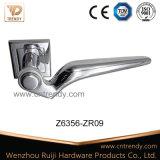 Traitement de levier en alliage de zinc de porte de plaque de chrome sur Roette (Z6356-ZR09)