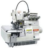 Máquina de costura de Overlock do computador de alta velocidade automático cheio