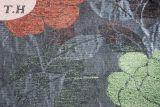 Rode en Groene Bloemen in de Dunne Stof van de Bank van de Jacquard door 260GSM
