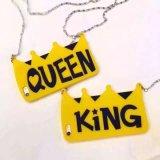 caja linda del silicón del bolso de la cadena de la corona del amarillo de la historieta de la manera 3D para iPhone6