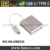 USB 3.1 de alta calidad tipo C macho a DVI adaptador convertidor