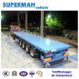 De 4 essieux de cargaison remorque à plat de camion semi lourde