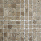 Brown Square Marble Mosaic Tile und Mosaic Wall Decoration