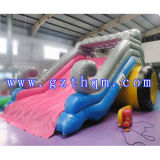 高品質0.55 mm PVC子供または巨大で膨脹可能な水スライドのための膨脹可能な水スライド