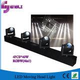 Feixe principal movente do diodo emissor de luz do profissional 4*40W mini para o estágio (HL-018BM)