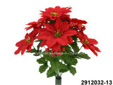Poinsettia artificial/plástico/de seda da flor, baga Bush (2912032-13)
