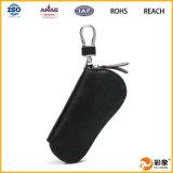 Новый кожаный ключевой мешок, мешок ключа автомобиля человека. Ключевой мешок
