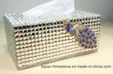 수정같은 다이아몬드 냅킨 조직 상자 커피용 탁자 모조 다이아몬드 상자 차 조직 상자 (TBB-002)