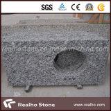 Partes superiores brancas da vaidade do pulverizador branco branco de Seawave do granito para o banheiro