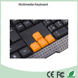 Materiales ABS Cableado Tipo de Ergonomía Multimedia Keyboard Game