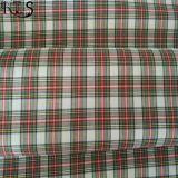 El hilado tejido 100% del popelín de algodón teñió la tela para las camisas/alineada Rlsc40-19