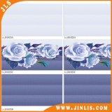 Azulejo de suelo de cerámica a prueba de humedad de la pared del cuarto de baño de la flor de la decoración 3D
