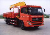 Dongfeng Crane Truck com 8-15 Tons Payload LHD ou Rhd Drive