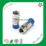 Wasserdichter Komprimierung-Verbinder des CATV Verbinder-RG6