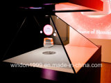 Vetrina olografica della piramide dell'ologramma di caso di visualizzazione per fare pubblicità