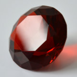 Rotes Crystal Glass Diamond für Paperweight Wedding Decoration