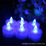La batería sin llama azul mira al trasluz la vela al por mayor en China