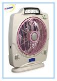 12 Inchs kühler nachladbarer Schreibtisch-Ventilator mit Notleuchten