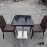 Insieme di superficie solido acrilico nero della Tabella pranzante del ristorante